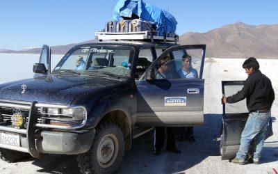 Notreparatur nach Unfall a la Bolivia
