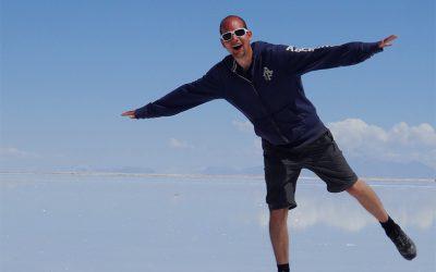 Michael auf dem Salar de Uyuni