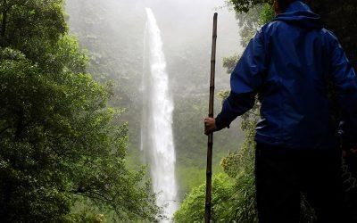 Nach einem Hagelzug ein Wasserfalll als Belohnung