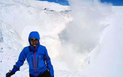 rauchender Krater erreicht