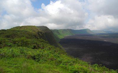 crater of sierra negra volcano