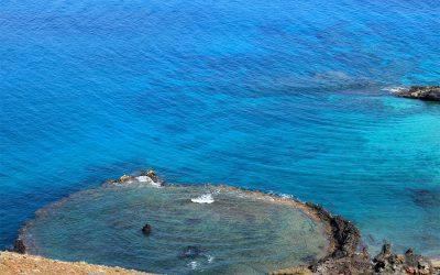 crater at isla bartolomé
