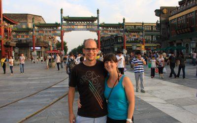 Einkaufsstrasse in Beijing