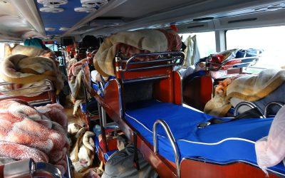 Chinesischer Nachtbus: Die Bettbreite beträgt genau 4 iPhone-Längen