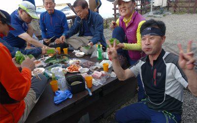Kimtschi und Soju auf dem Gipfel