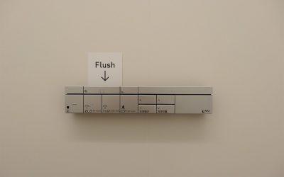 sogar die WC-Bedienung ist für einmal übersichtlich
