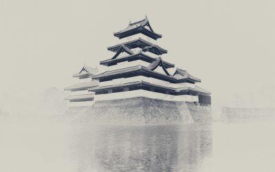 Matsumoto Castle - Negativaufnahme