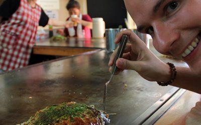 Ein Okonomiyaki in Hiroshima