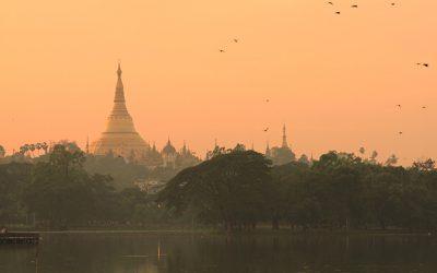 Abendstimmung Yangon
