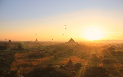 Sonnenaufgang in Bagan
