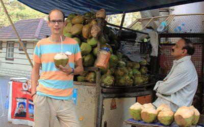 Ein Kokosnusstrinker