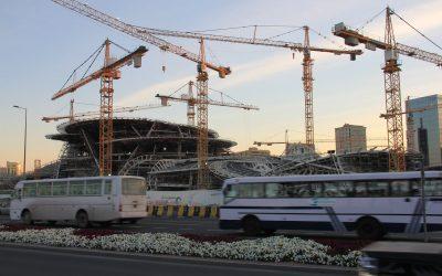 Baustelle Fussball-WM Katar